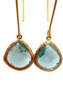 Elegant Aqua Earrings